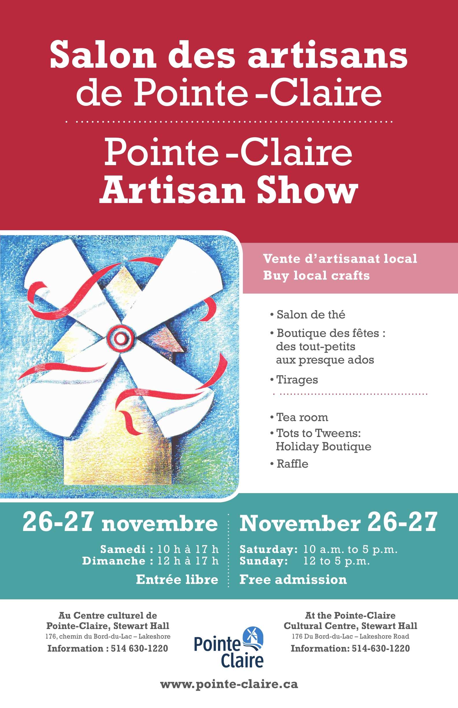 Salon des artisans 2016 ville de pointe claire for Salon artisanal