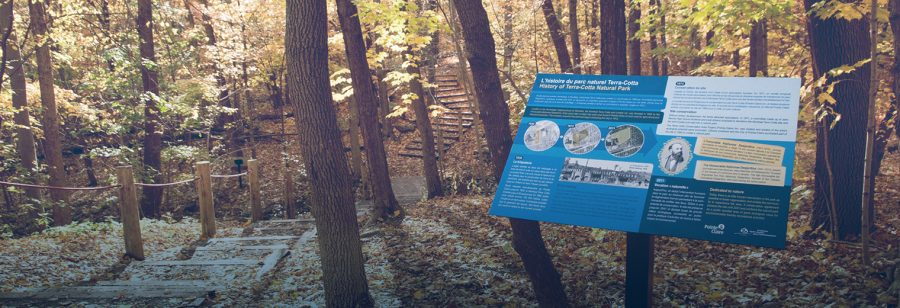11 new interpretive panels in terra cotta natural park ville de pointe claire for Pointe claire swimming pool schedule